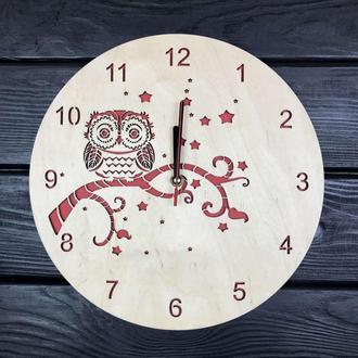 Деревянные часы  «Сова»