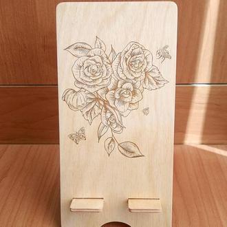 """Цветы"" эко подставка для смартфона, планшета 1"
