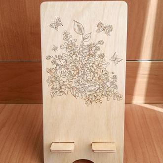 """Цветы"" эко подставка для смартфона, планшета 2"