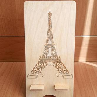 """Эйфелева башня"" эко подставка для смартфона, планшета"