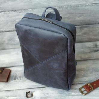 Стильный кожаный городской рюкзак