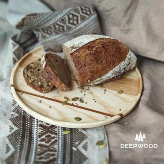 Тарелка из ясеня, деревянная тарелка