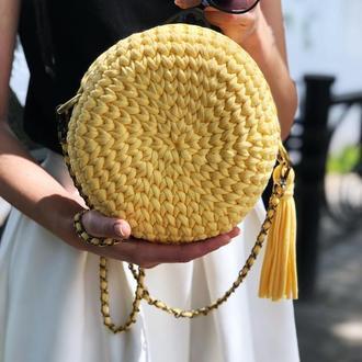 Круглая сумка-макарун