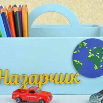 Карандашница подставка органайзер для ручек карандашей канцелярии  подставка ручной работы