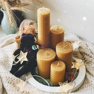 Набор натуральных свечей из вощины (5 шт)
