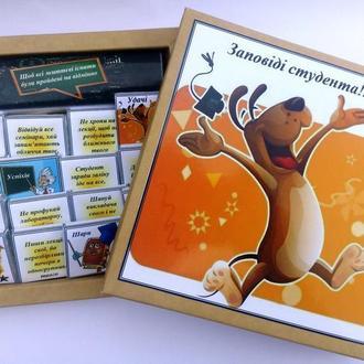 """Шоколадный подарочный набор """"Заповеди студента"""" 120 грамм. Подарки студентам на День студента, 1"""
