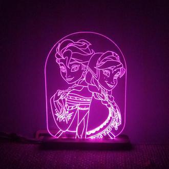 Ночник Светильник Frozen Холодное Сердце детский