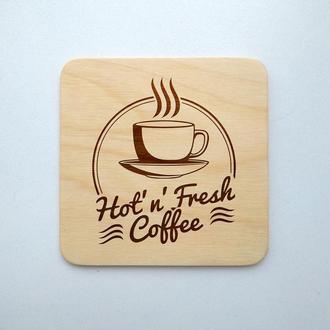 "Костер ""Coffee"" (эко подставка под кружку/стакан/бокал/чашку) из фанеры 13"