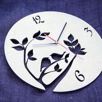 """Часы настенные """"Птички"""" диаметр до 40 см"""