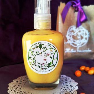 Крем-молочко для лица увлажняющий с маслом облепихи гиалуроновой кислотой и гидролатом иланг-иланга