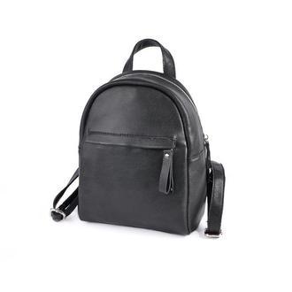 Кожаный женский рюкзак Черный