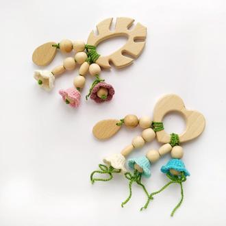 Грызунок -прорезыватель для малышей, подарок на выписку