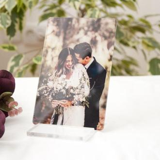 Свадебное фото на акриле