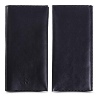 Кожаное портмоне для денег телефона карточек Stenk WalletBook Черный открытый карман