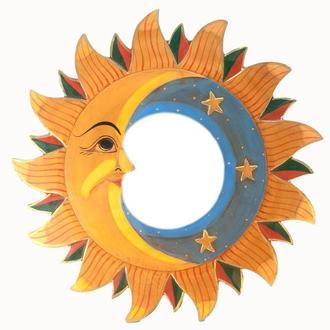 Зеркало настенное интерьерное Луна и солнце