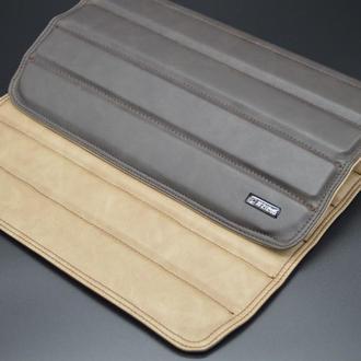 "Кожаный подставка коврик-накладка на подлокотник дивана ""Amber Double"" #2i2ua"