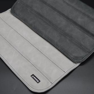 "Кожаный подставка коврик-накладка на подлокотник дивана ""Pearl Double"" #2i2ua"