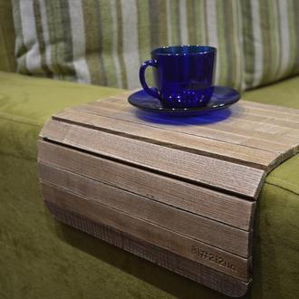 Деревянная подставка накладка-столик на подлокотник дивана (винтаж)