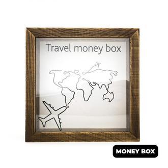 """Дерев'яна копілка """"Travel money box"""""""