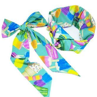 Яркий летний набор my scarf (тюрбан+твилли)