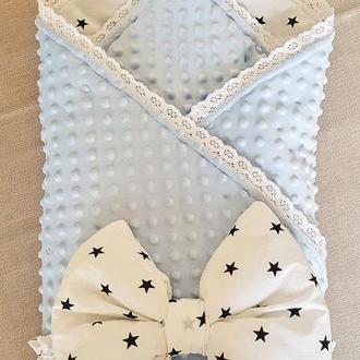 Одеяло-конверт на выписку. Одеяло для новорожденного.Подарок на выписку