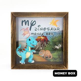 """Дерев'яна копілка """"My dinosaur maney box"""""""