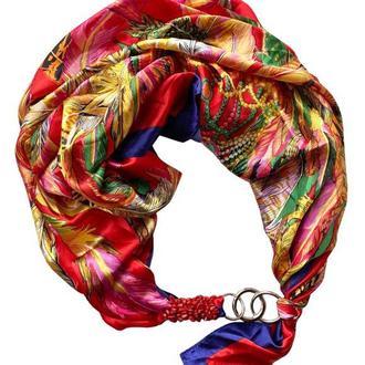 Атласный платок my scarf, шейный платок, подарок женщине