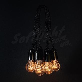 Ретро гирлянда из лампочек 5 метров 10 ламп