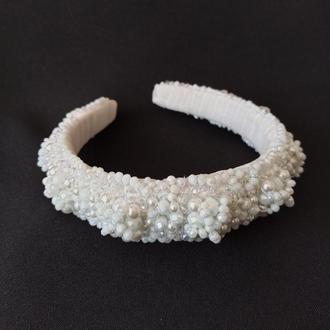 Обруч-ободок для волосся ksenija vitali white wedding ob-00010