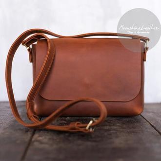 Маленькая кожаная сумка The ONE через плечо