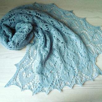 Вязаный шарф из мериносовой шерсти