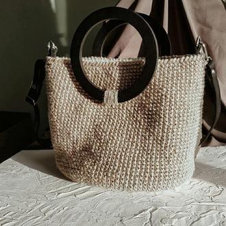 Вязаная сумка из джута Amber