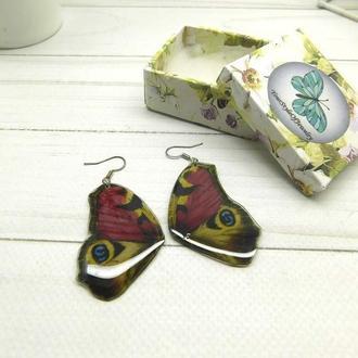 Серьги крылья бабочки