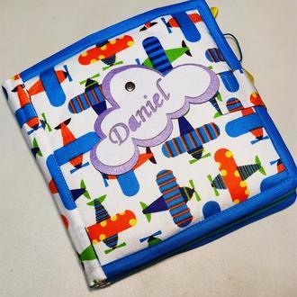 Мягкая тихая книга из фетра на 10 страниц - Развивающая мягкая книга для ребенка