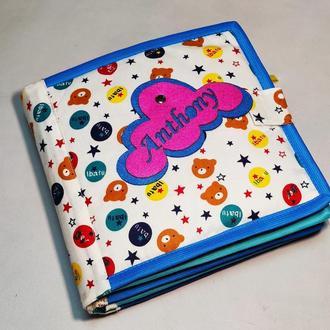М'яка тиха книга з фетру на 10 сторінок - Розвиваюча м'яка книга для малюка