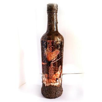 Подарочное оформление бутылки Охота