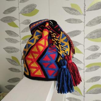 Сумка колумбийская Мочила (Mochila), яркая летняя сумка