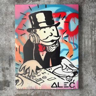 Картина на холсте Pop-Art Alec Monopoly | Поп-арт Алек Монополи (AM003) (Replica)
