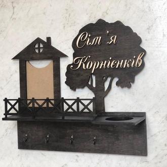 Настенная ключница из дерева