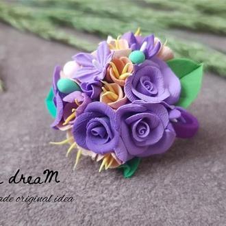 """Резинка для волос из коллекции """"Catherine violet"""""""