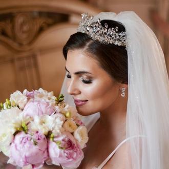 Свадебная диадема, диадема для невесты, свадебная корона, корона для невесты
