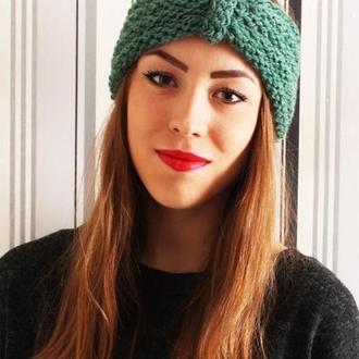 Вязанная повязка зеленого цвета от N. Verich