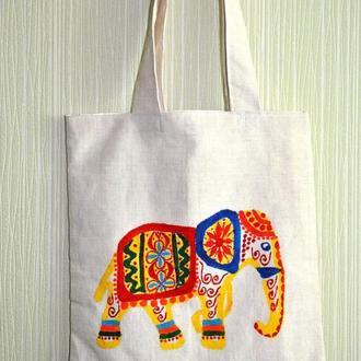 Сумка с индийским слоном