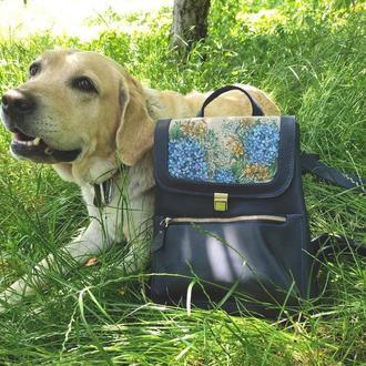 Городской кожаный рюкзак женский