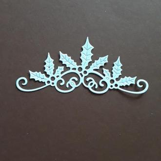 Вырубка для скрапбукинга Новогодняя ветка, декор для скрапбукинга