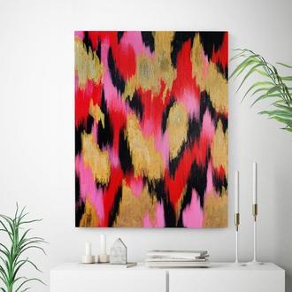 Красная абстракция (акрил/холст) 60х80х2 см