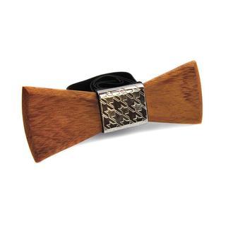 SALEM - галстук-бабочка из серебра и экзотического дерева