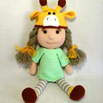 Куколка в костюме Жирафа крючком