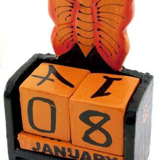 Календарь настольный деревянный Бабочка