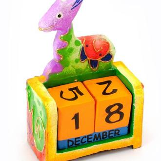 Календарь настольный деревянный Жираф